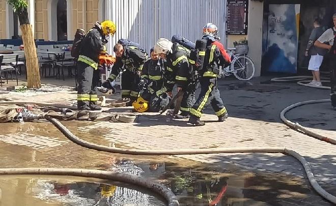 На улице Кирова случился пожар. Видео