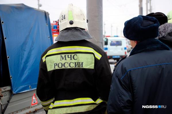 """Первый в 2021 году пожар произошел на <nobr class=""""_"""">6-й</nobr> Станционной в Омске. Он обошелся без жертв"""