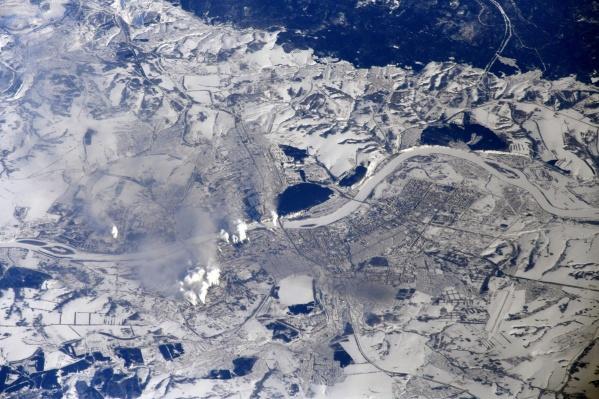 Вот так выглядит Кемерово из космоса