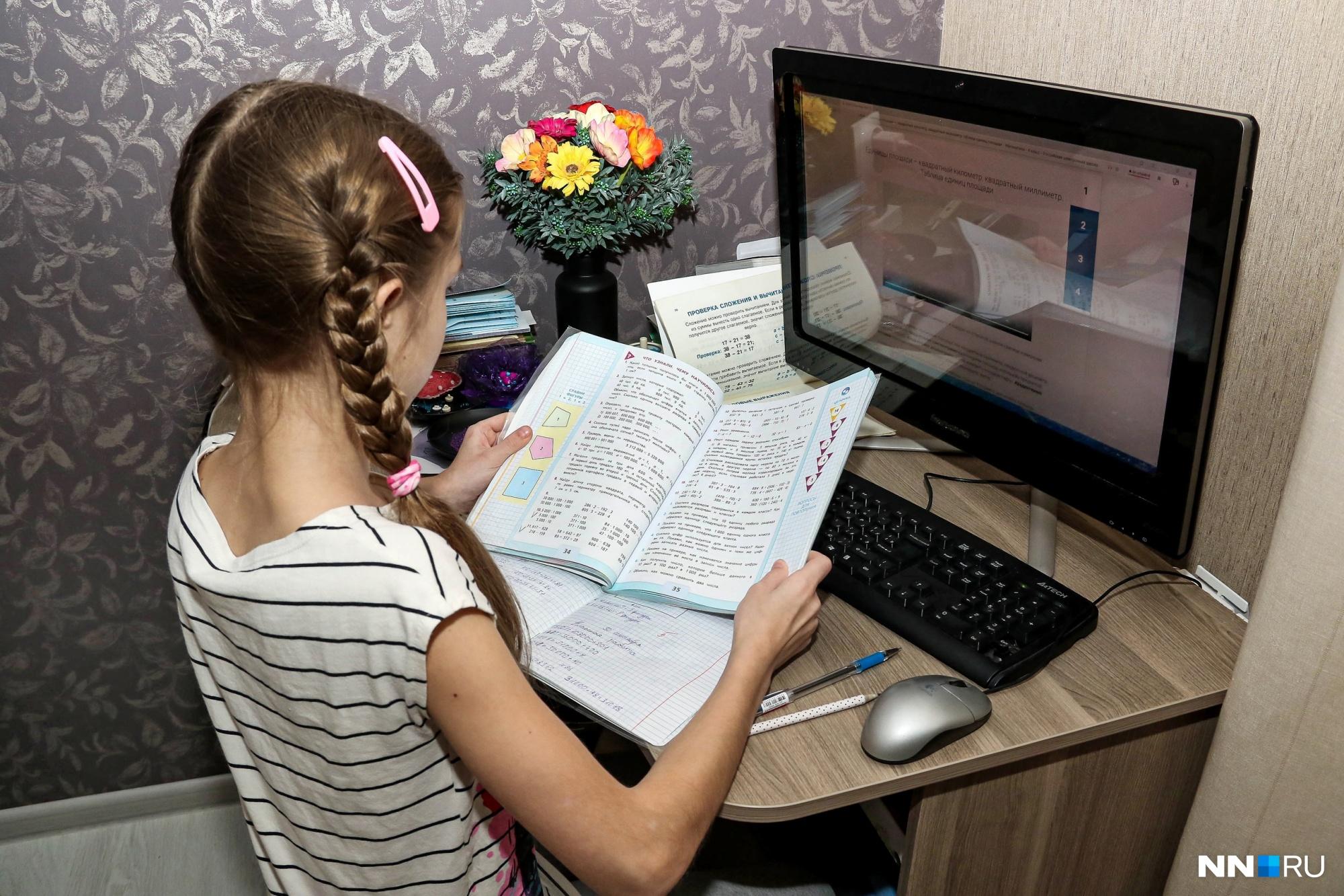 В двух районах Нижегородской области перевели классы на дистанционное обучение