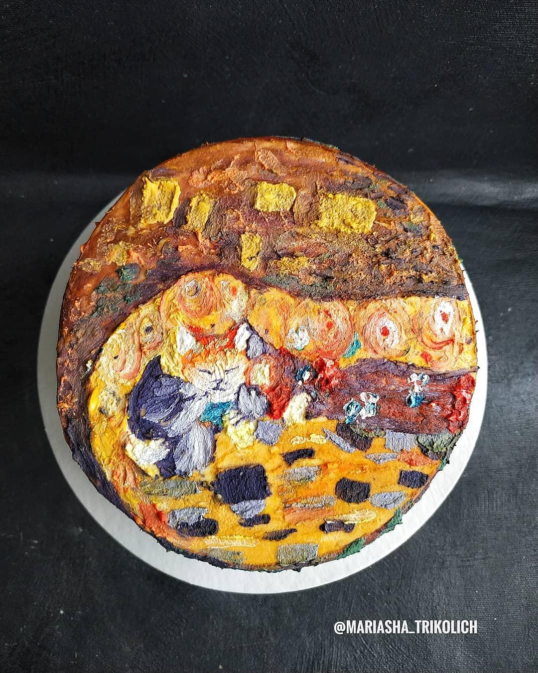 А эта работа сделана по мотивам картины Густава Климта