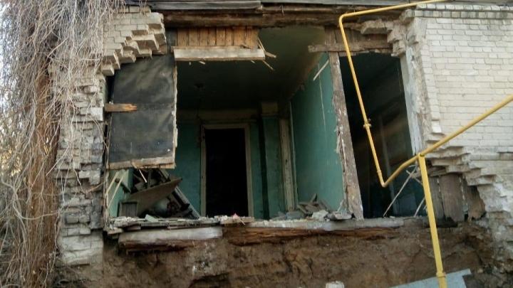В Самаре снова рухнула стена жилого дома