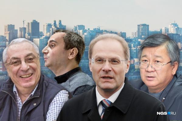 Слева направо: отец и сын Солодкины, Василий Юрченко и Николай Хван