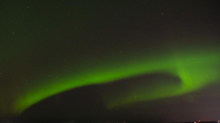 В Архангельске наблюдали северное сияние: как это было