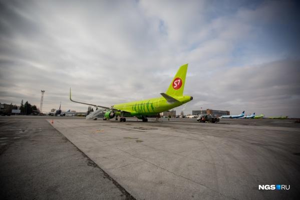 Рейс, улетевший в Новосибирск, должен прибыть в точку назначения в 13:10