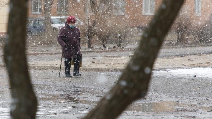 Это же форменное хулиганство: балканский циклон засыпает Волгоград апрельским снегом