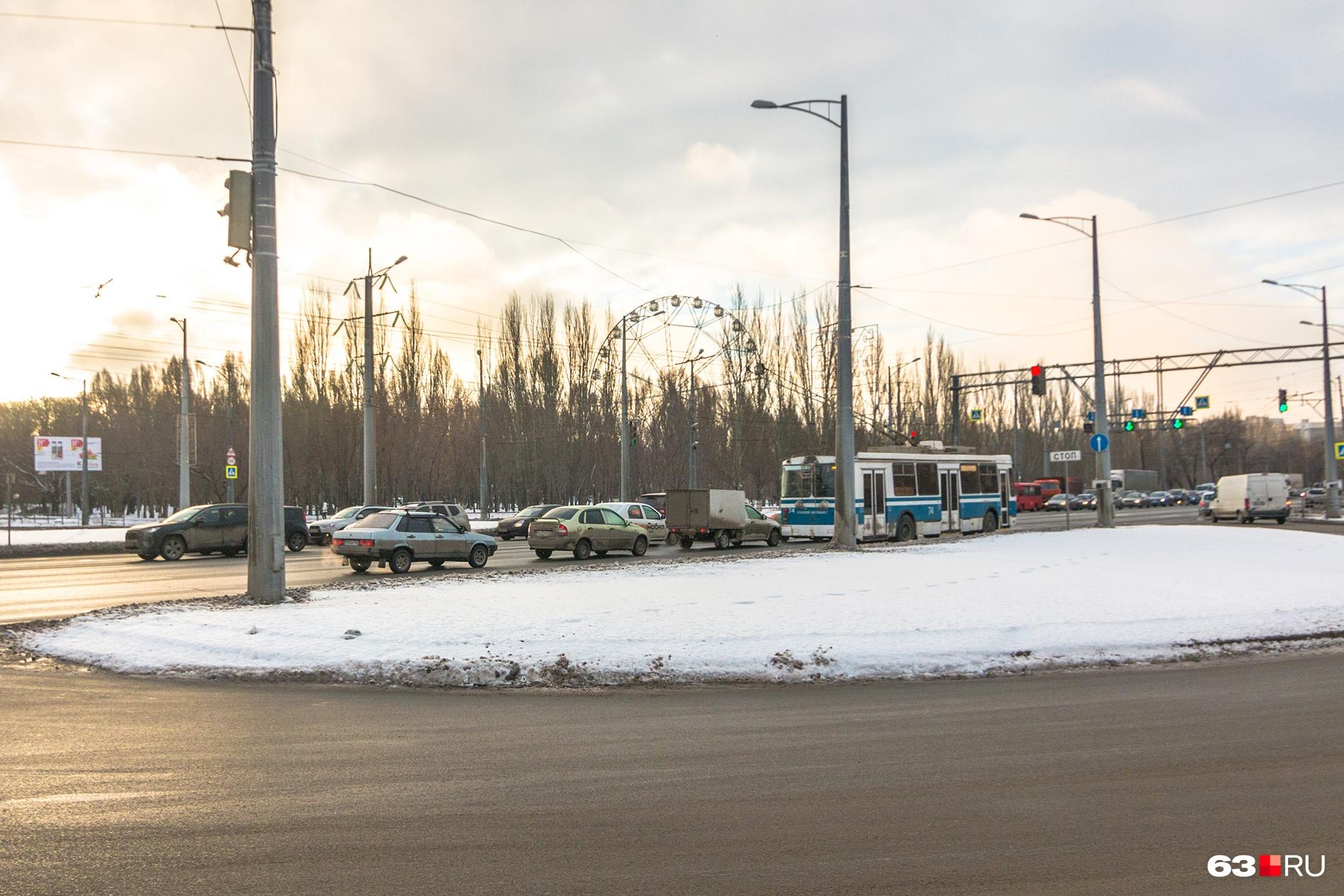 Кольца на участке шоссе от Мичурина до Кирова — разрезные