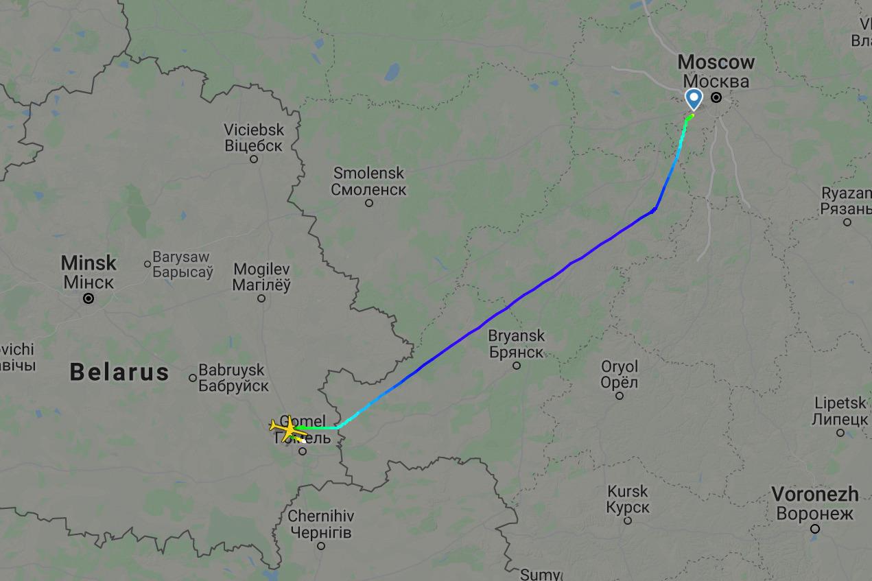 Скриншот сервиса Flightradar