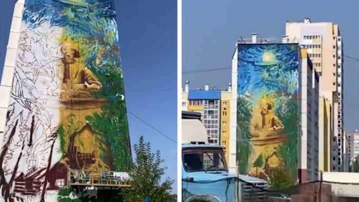 Создание нового граффити в Парковом сняли на видео от первого лица