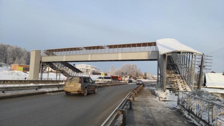 На Челябинском тракте восстановили мост, который снес самосвал