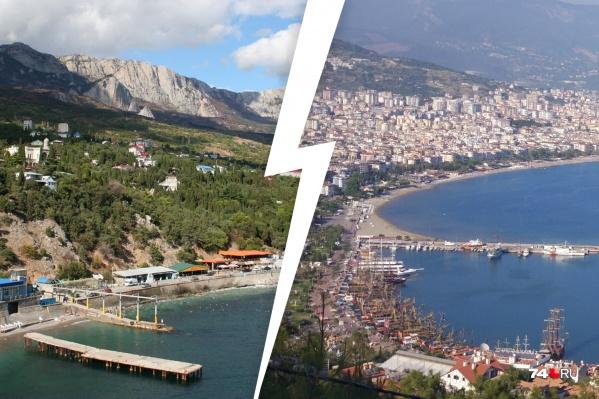 А что выберете вы этой весной или летом — крымские курорты или берег турецкий?