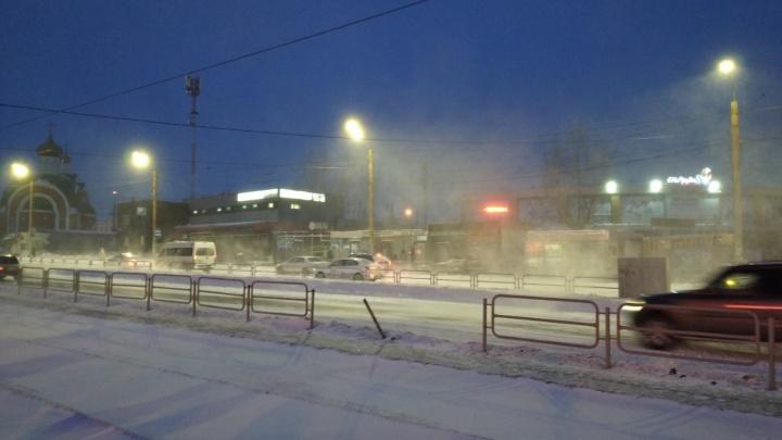 В Челябинске из-за метели на линию не вышли трамваи
