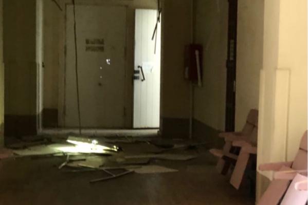 Так выглядит пострадавший этаж