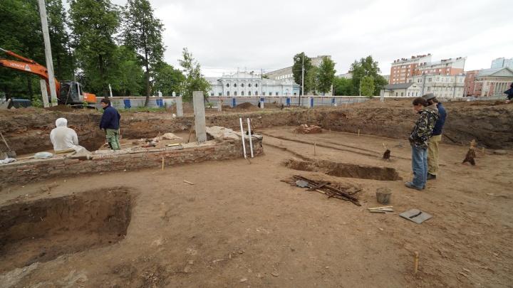 В центре Перми проведут бесплатные экскурсии по археологическим раскопкам