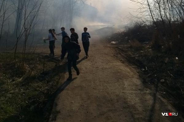 Пожару радовалась, похоже, только местная ребятня