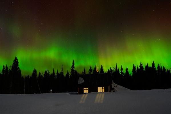 Самое фантастическое, что можно увидеть на Вишере, — северное сияние