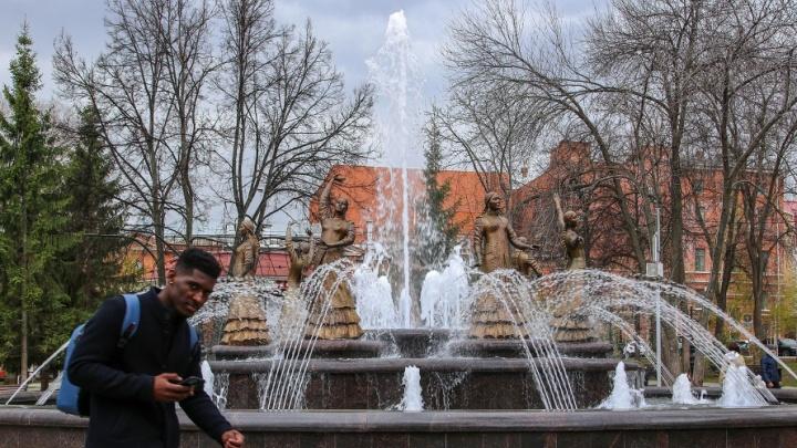 В Уфе заработали городские фонтаны