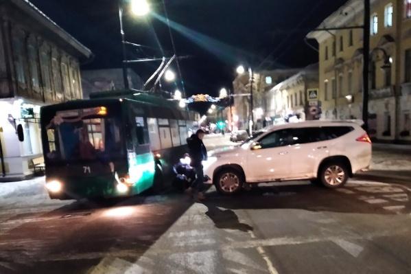 ДТП произошло в самом центре Рыбинска