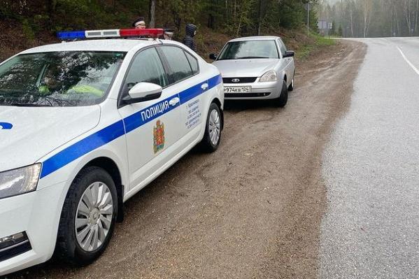 Красноярец считает, что сотрудники ДПС устроили провокацию на дороге