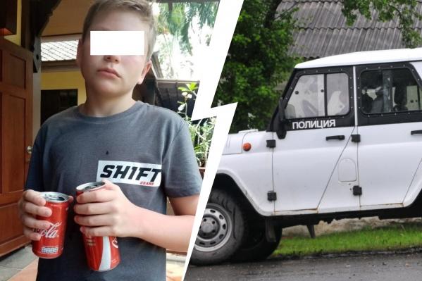 Ребенка сейчас везут в полицию