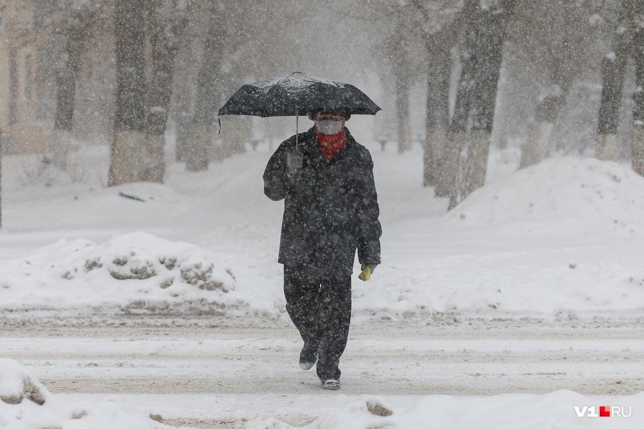 Зонтик — лучшая защита от дождя и снега