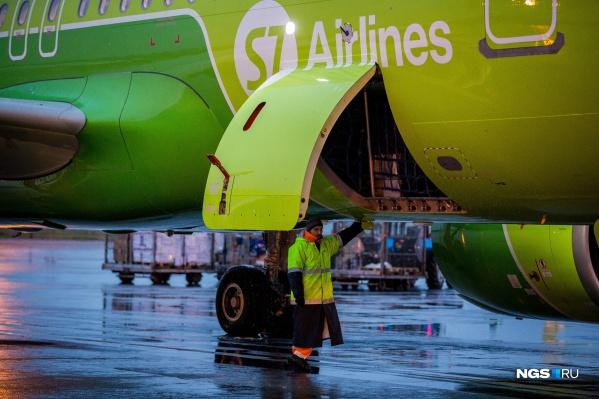 Рейсы будет выполнять базовый перевозчик аэропорта — компания S7 Airlines