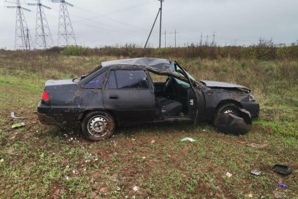 Первой в аварию попала Daewoo Nexia