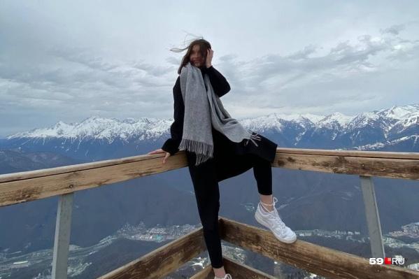 Панорамный обзор на горы с высоты 2200 метров