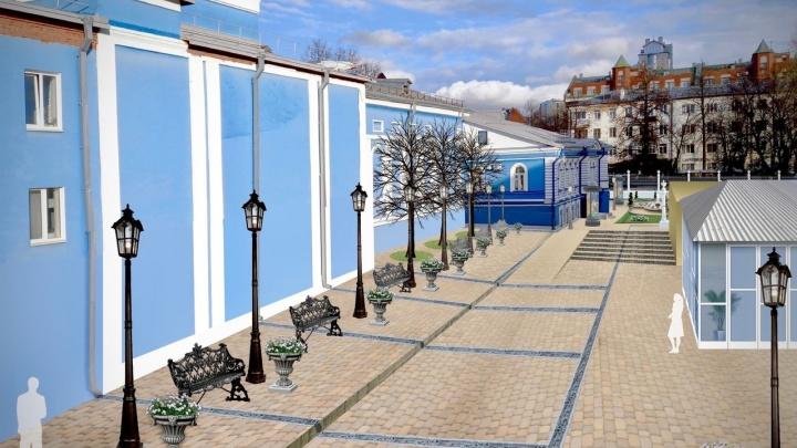 У пермского ТЮЗа хотят организовать место для прогулок: оно объединит два старинных здания