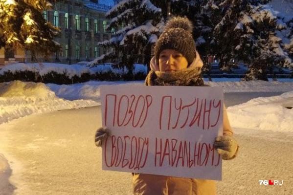 Елена Лекиашвили вышла на площадь сразу после ареста Алексея Навального на 30 суток