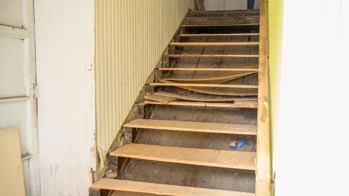 Из исторического дома в Ростове исчезла дореволюционная лестница. Власти обратятся в полицию
