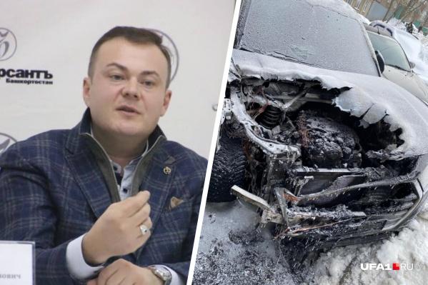 Машину подожгли, когда адвокат находился в другом городе