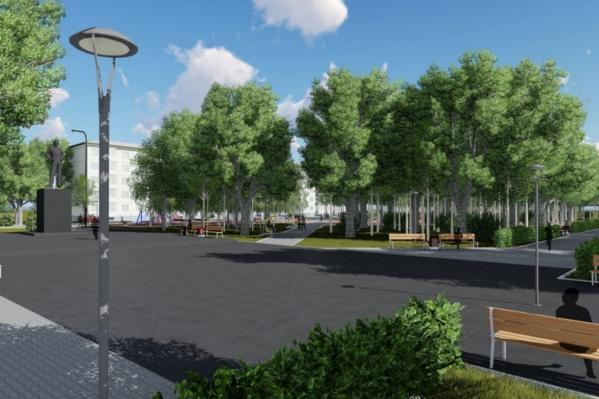 Благоустройство парка пройдет в два этапа и завершится в 2023 году
