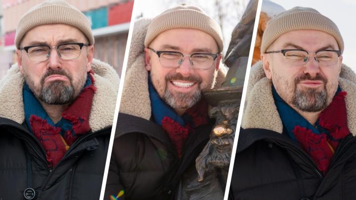 5 эмоций Донского от Архангельска: как он оценил мимикой пазики, аварийки, арт-объекты и не только