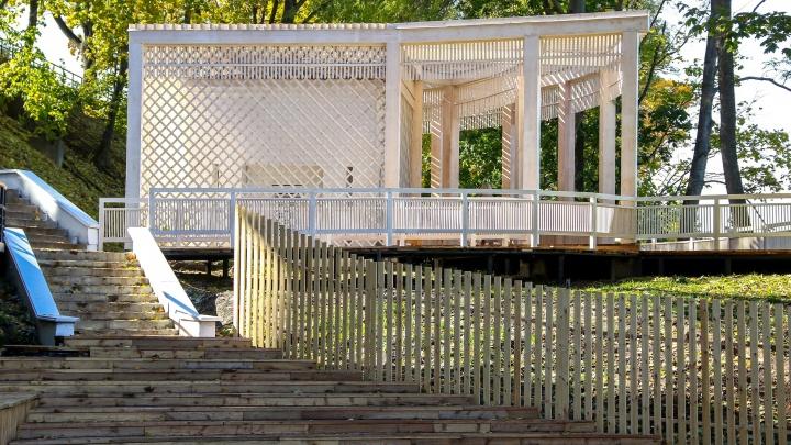 Веранда с видом на Волгу. В Нижегородском кремле открылся Литературный сад