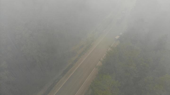 Из-за лесного пожара под Тюменью ощущается запах гари (опять)