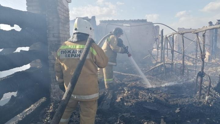В окрестностях Кургана горела ферма