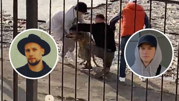 «Не заметила воды из-за плавающего мусора»: артисты спасли упавшую в Волгу собаку