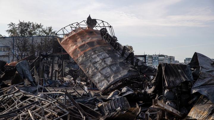 Из-за дыма пожарных снова вызвали на взорвавшуюся АГЗС в Новосибирске