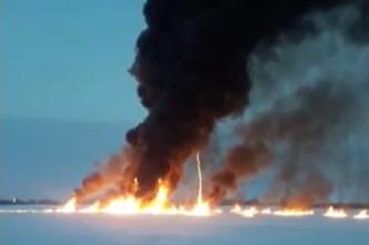 Очевидец взрыва газа из трубопровода в Оби: «Снегоход горел, рядом полыхал лед, нефтепродукты»