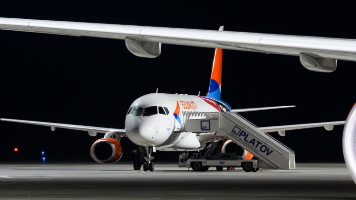 Самолет Самара — Ростов-на-Дону развернуло на взлетно-посадочной полосе аэропорта Платов
