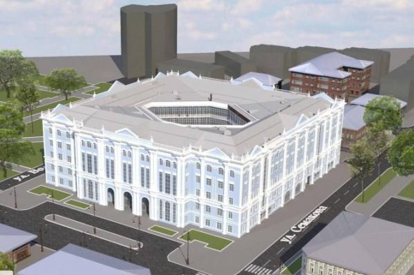 Таким по плану должно быть новое здание