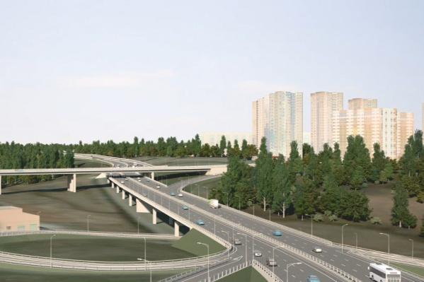 Один из эскизных проектов будущей дороги
