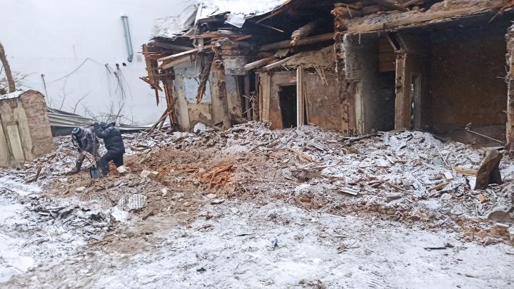 Такая реставрация: в центре Ярославля сровняли с землей историческое здание