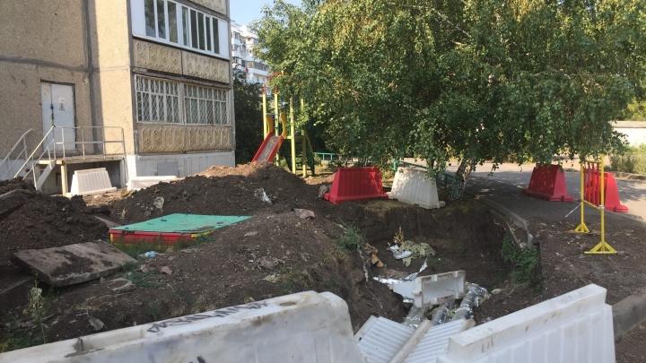 В одном из дворов Уфы появились суровые детские горки
