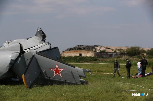 Крушение самолета произошло сегодня утром в районе аэродрома Танай