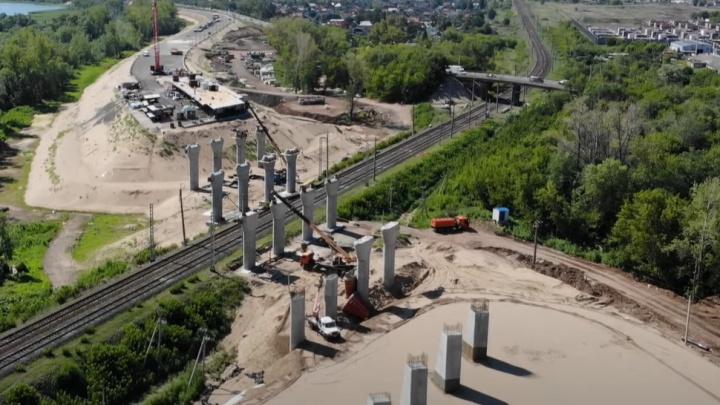 Строители Самарского (Фрунзенского) моста хотят накрыть железную дорогу пролетом