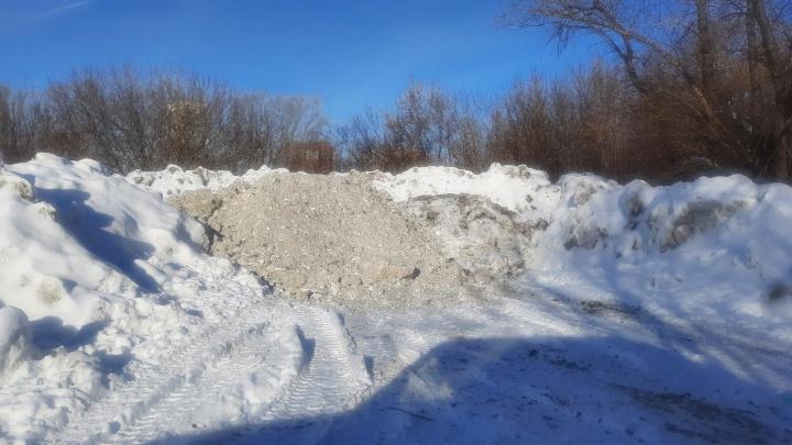 Курганцы пожаловались на завалы грязного снега на берегу Тобола