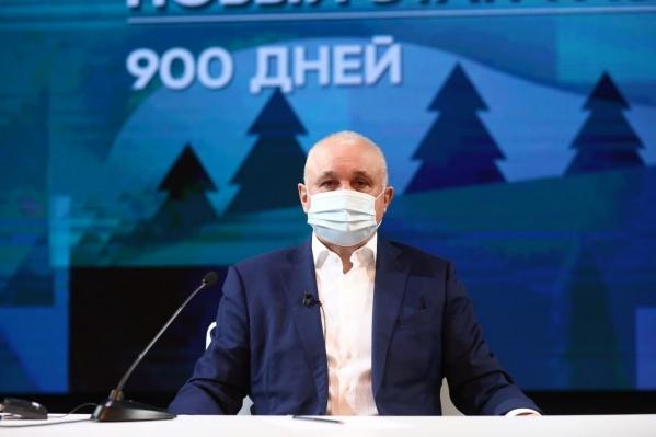 Очередная пресс-конференция Сергея Цивилёва прошла в Новокузнецке 7 апреля
