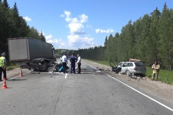 На трассе Пермь — Екатеринбург произошло ДТП